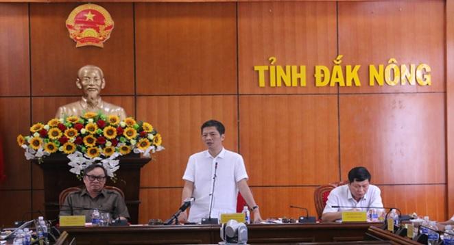 Bộ trưởng Bộ Công thương làm việc tại tỉnh Đắk Nôn