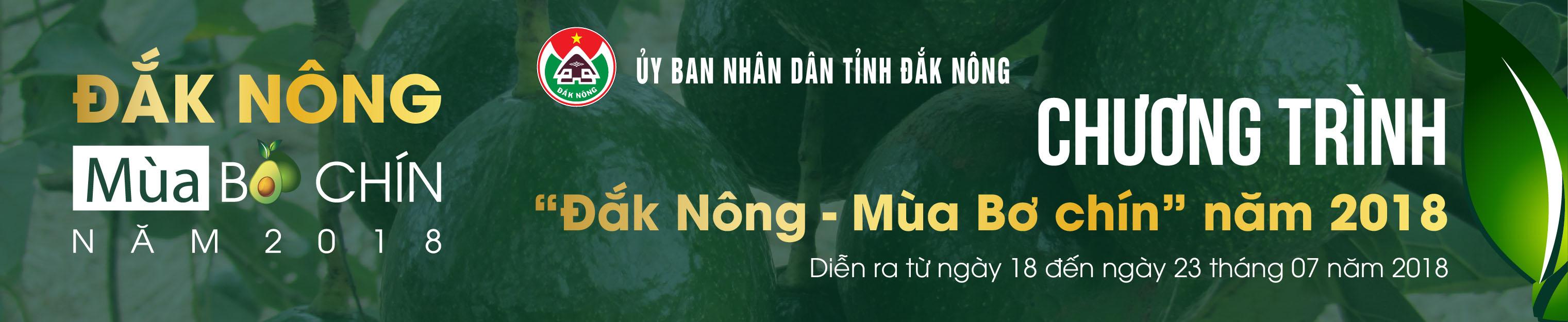 """""""Đắk Nông - Mùa Bơ chín"""" năm 2018"""