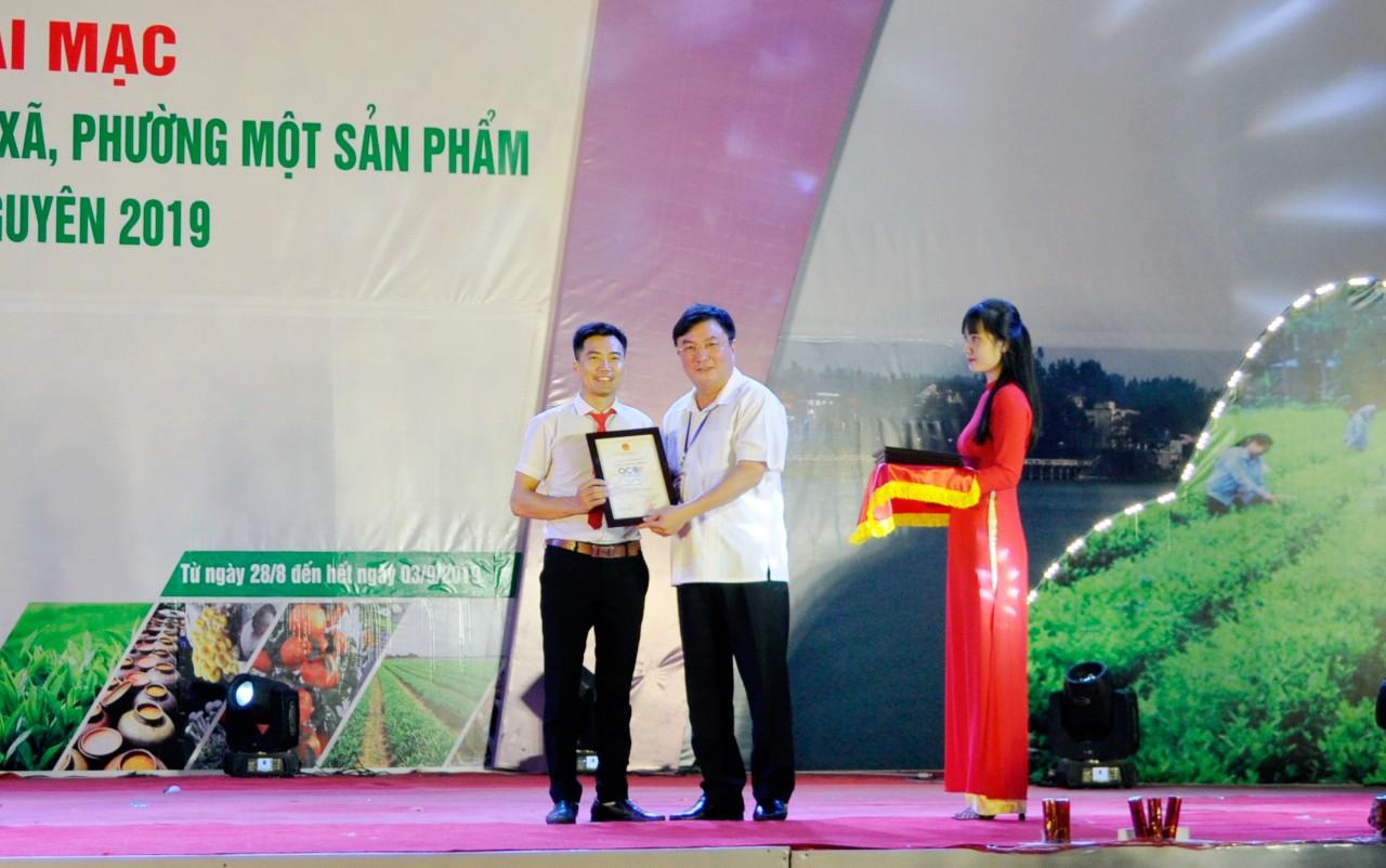 Giám đốc Nguyễn Văn Ba nhận danh hiệu Ocop tỉnh TN